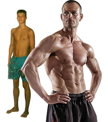 Før og efter billeder af personlig træner Kasper V. Christensen fra Kbh